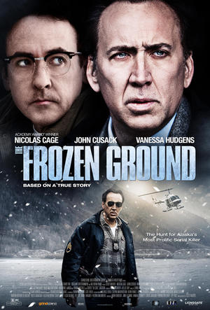 "Poster art for ""The Frozen Ground."""