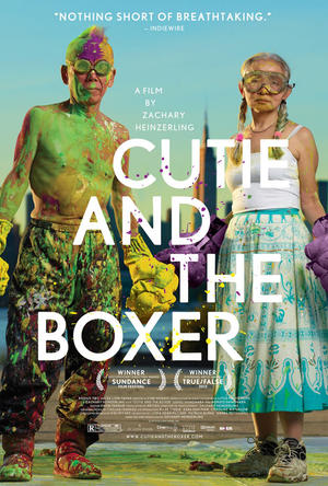 "Poster art for ""Cutie and the Boxer."""