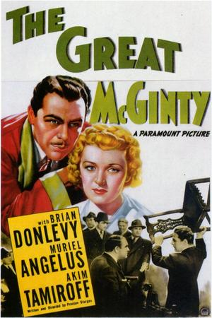 """Poster art for """"The Great McGinty."""""""