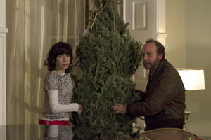"Paul Giamatti as Denis and Sally Hawkins as Olga in ""All Is Bright."""