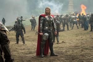 "Chris Hemsworth as Thor in ""Thor: The Dark World."""