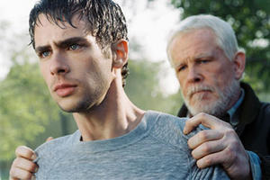 "Scott Mechlowicz and Nick Nolte in ""Peaceful Warrior."""