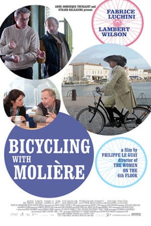 """Poster art for """"Bicycling with Moliere"""""""