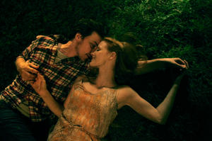 "James McAvoy and Jessica Chastain in ""The Disappearance Of Eleanor Rigby."""