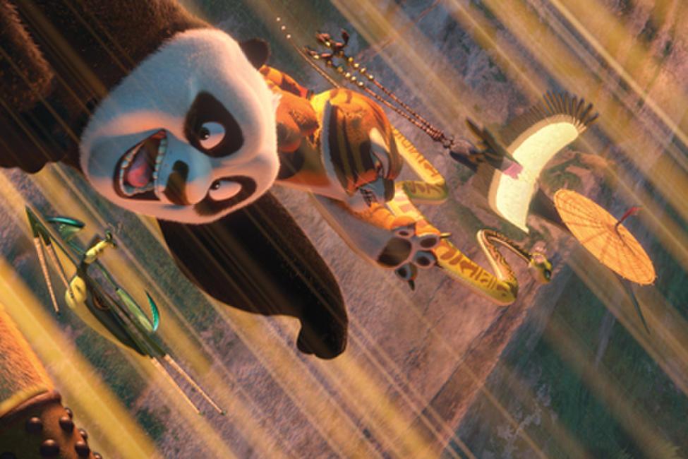 Kung fu panda crane and viper kiss