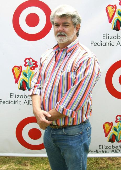 George Lucas and Sienna Miller at the Elizabeth Glaser Pediatric Aids Foundation.