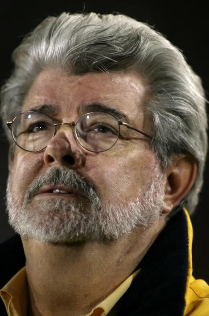 George Lucas at the game between the Oregon Ducks and the USC Trojans.