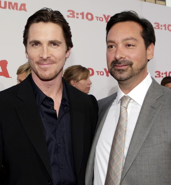 James Mangold and Christian Bale at the premiere of