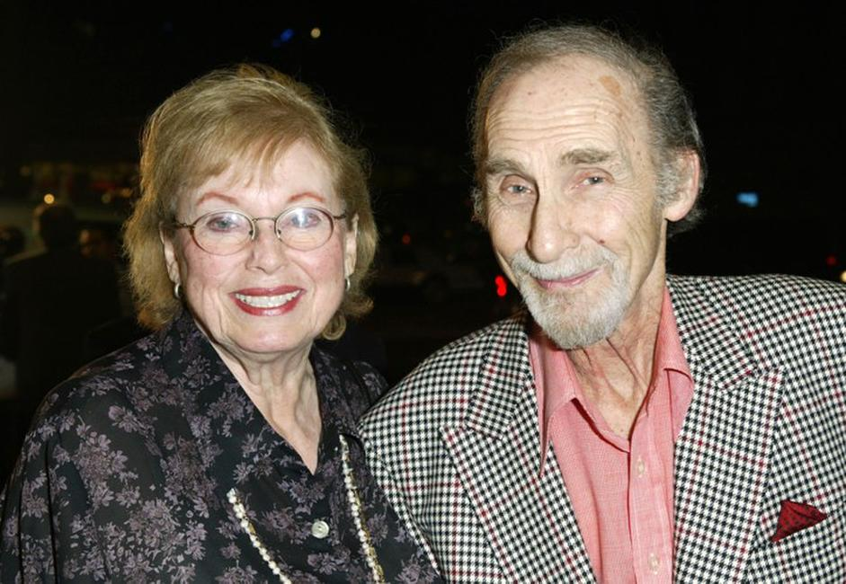 Florence Levy and Sid Caesar at the 40th Anniversary screening of