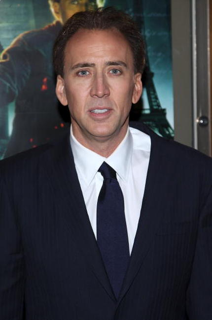 Actor Nicolas Cage at the N.Y. premiere of