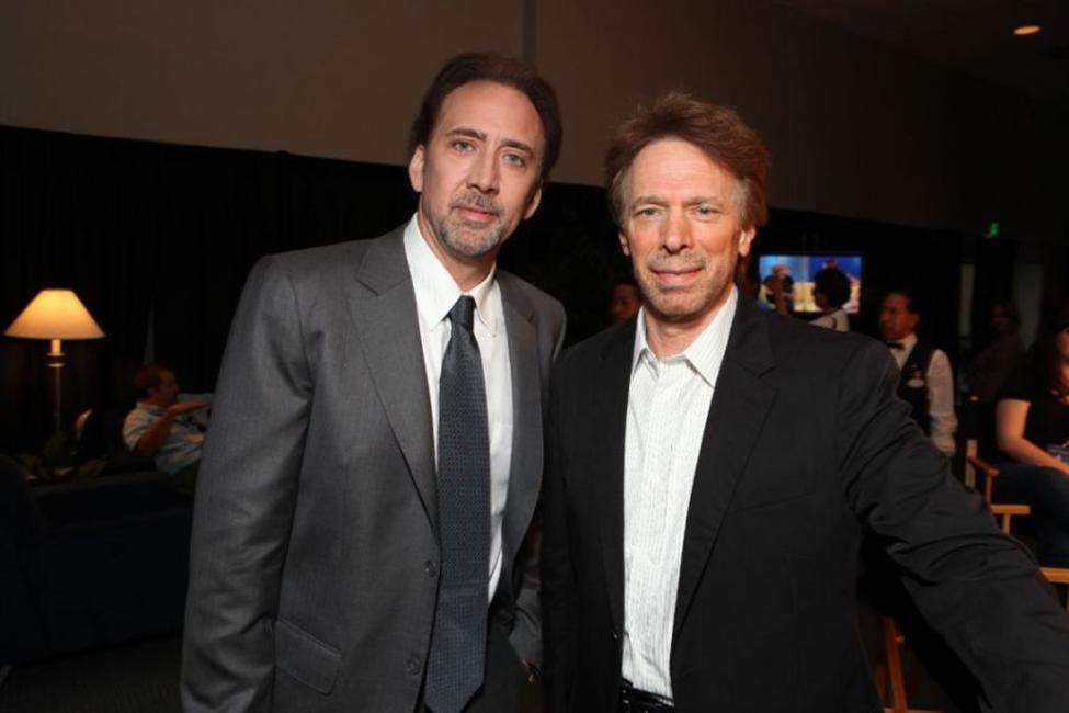 Nicolas Cage and Producer Jerry Bruckheimer at the opening Ceremony of Disney's Inaugural D23 Convention.