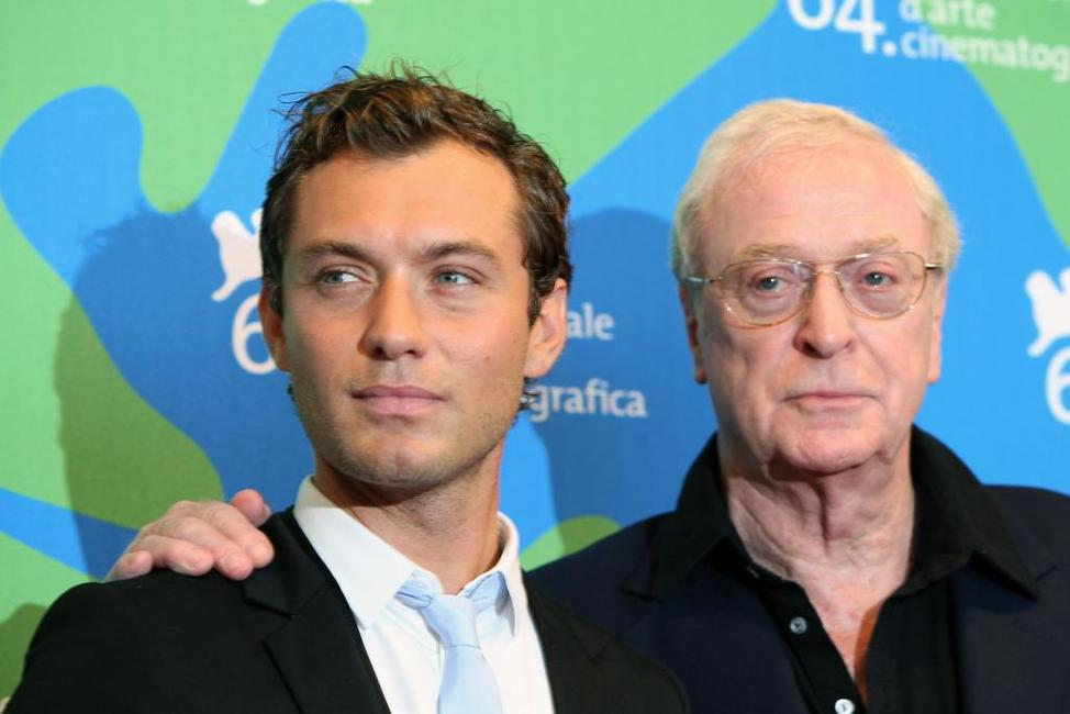 Michael Caine and Jude Law at the 64th Venice International Film Festival for photocall of