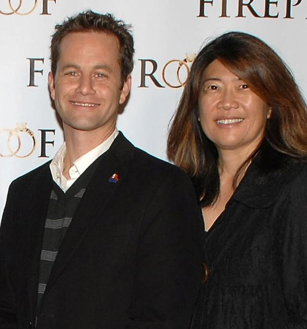 Kirk Cameron and Lexine Wong at the premiere of