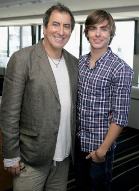 Kenny Ortega and Zac Efron at the photocall of