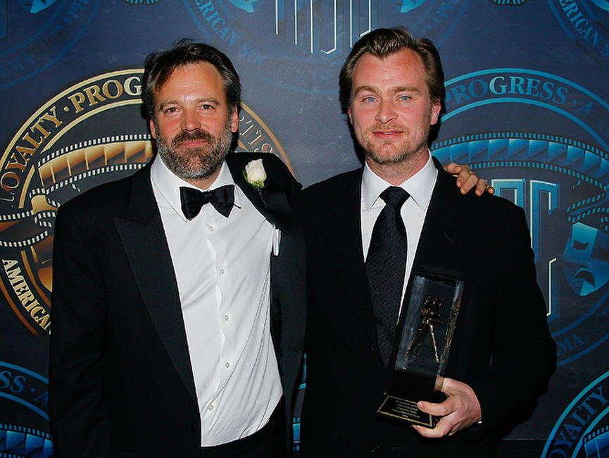 Wally Pfister and director Christopher Nolan at the American Society of Cinematographer's 23rd Annual Outstanding Achievement Awards.