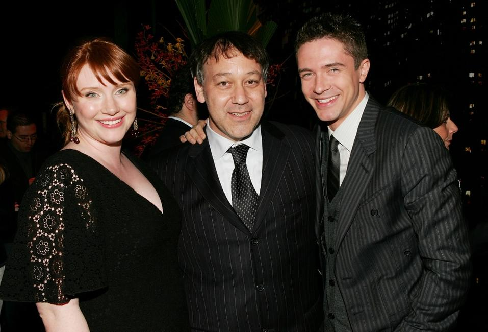 Sam Raimi, Bryce Dallas Howard and Topher Grace at the Tribeca Film Festival after party of