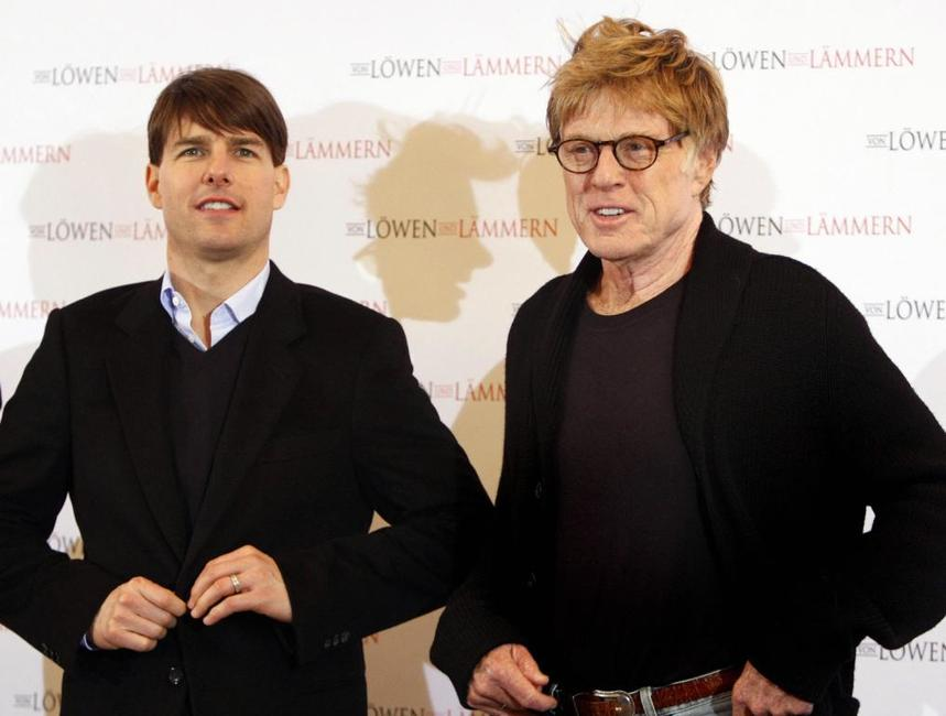 Robert Redford and Tom Cruise at the Berlin photocall of