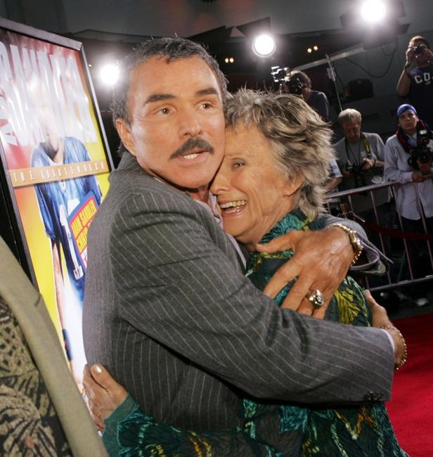 Burt Reynolds and Cloris Leachman at the premiere of