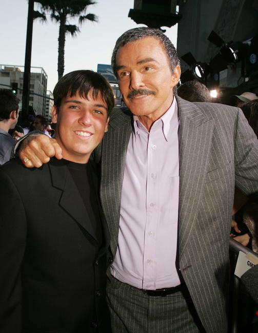 Burt Reynolds and his son Quinton at the premiere of