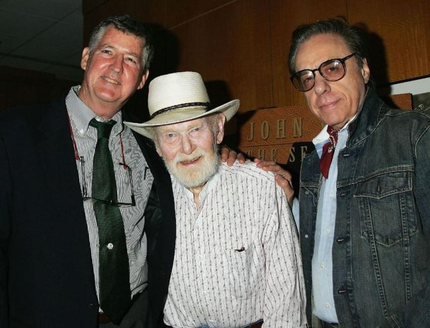 Dan Ford, Harry Carey, Jr. and director Peter Bogdanovich at the Academy of Motion Picture Arts and Sciences special 50th anniversary screening of
