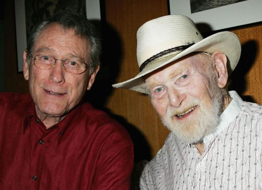 Earl Holliman and Harry Carey, Jr. at the Academy of Motion Picture Arts and Sciences special 50th anniversary screening of
