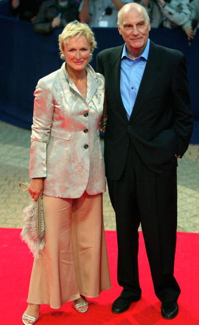 Glenn Close and Barbet Schroeder at the premiere of