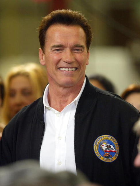 Arnold Schwarzenegger at a Citizens to Save California event.