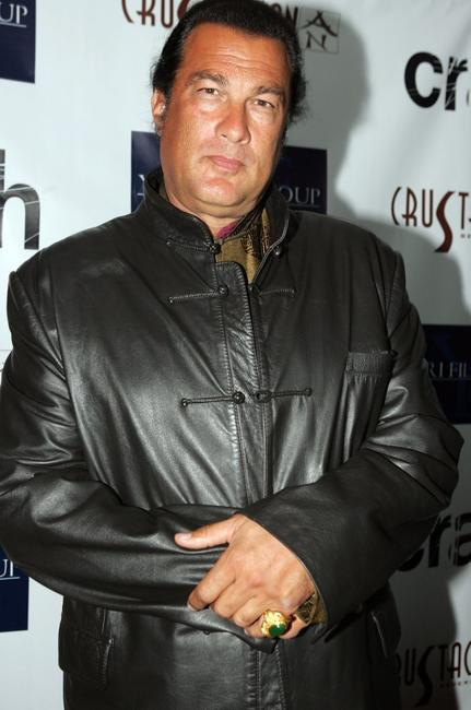 Steven Seagal at the Academy Party