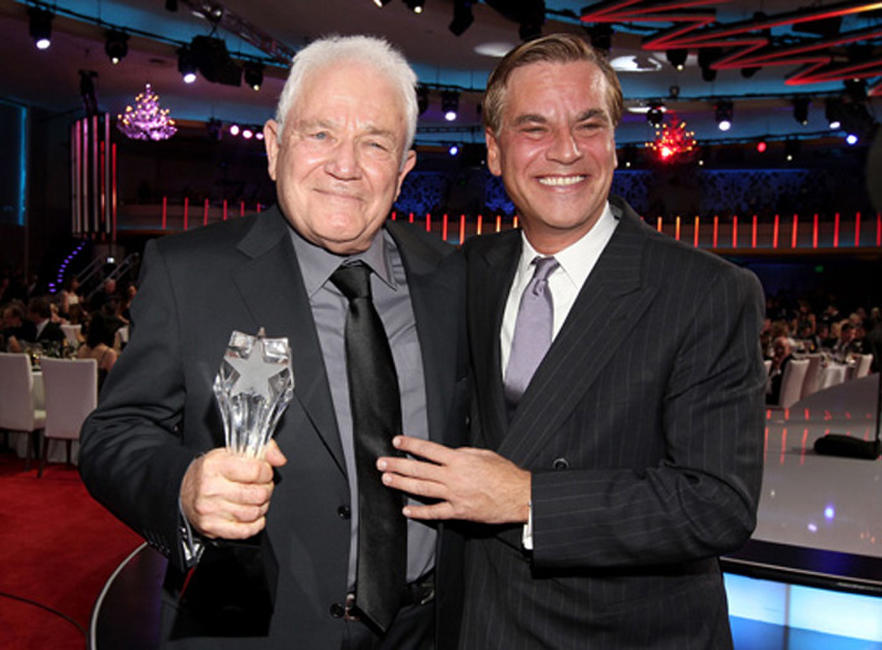 David Seidler and writer Aaron Sorkin at the 16th Annual Critics' Choice Movie Awards.