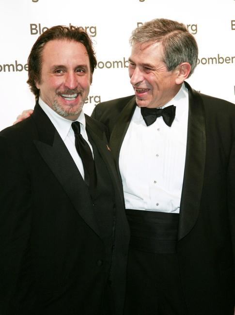 Ron Silver and Paul Wolfowitz at the Bloomberg News Party of the Year, following The White House Correspondents Dinner.