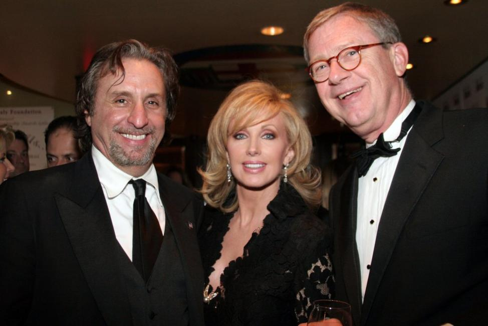 Ron Silver, Morgan Fairchild and Michael Baron at the Correspondents After Party hosted by Capitol File Magazine.