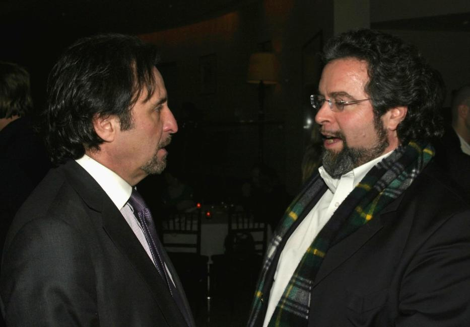 Ron Silver and Drew Nieporent at the after party for the Screening of