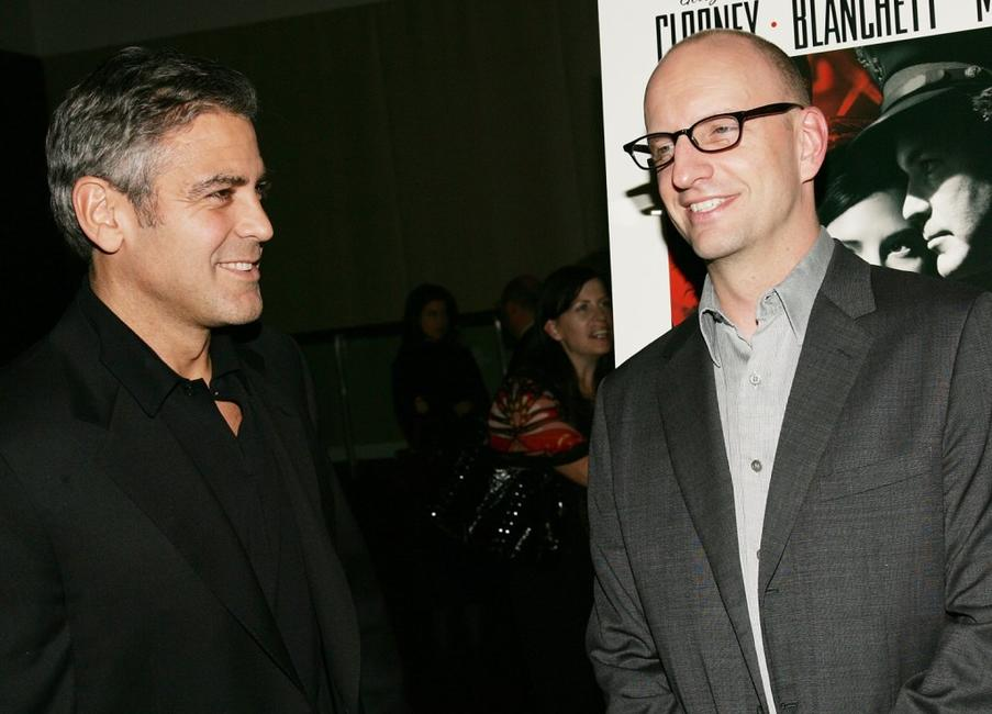 Steven Soderbergh and George Clooney at the screening of the film