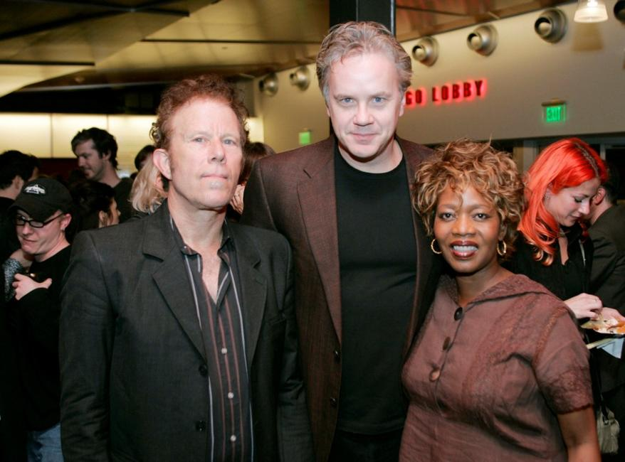 Tom Waits, Tim Robbins and Alfre Woodard at the opening performance of