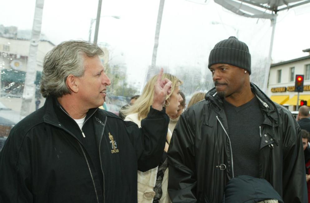 Keenan Ivory Wayans and Jeff Blake at the Mann Village in Los Angeles for the premiere of