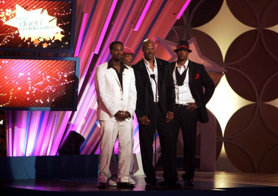 Keenen Ivory, Shawn, Marlon, and Damon Wayans at the Shrine Auditorium to present the award for Best Duet/Collaboration onstage at the 2006 BET Awards.
