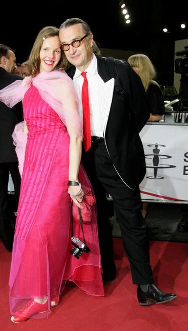 Wim Wenders and Donata at the the 20th European Film Awards.