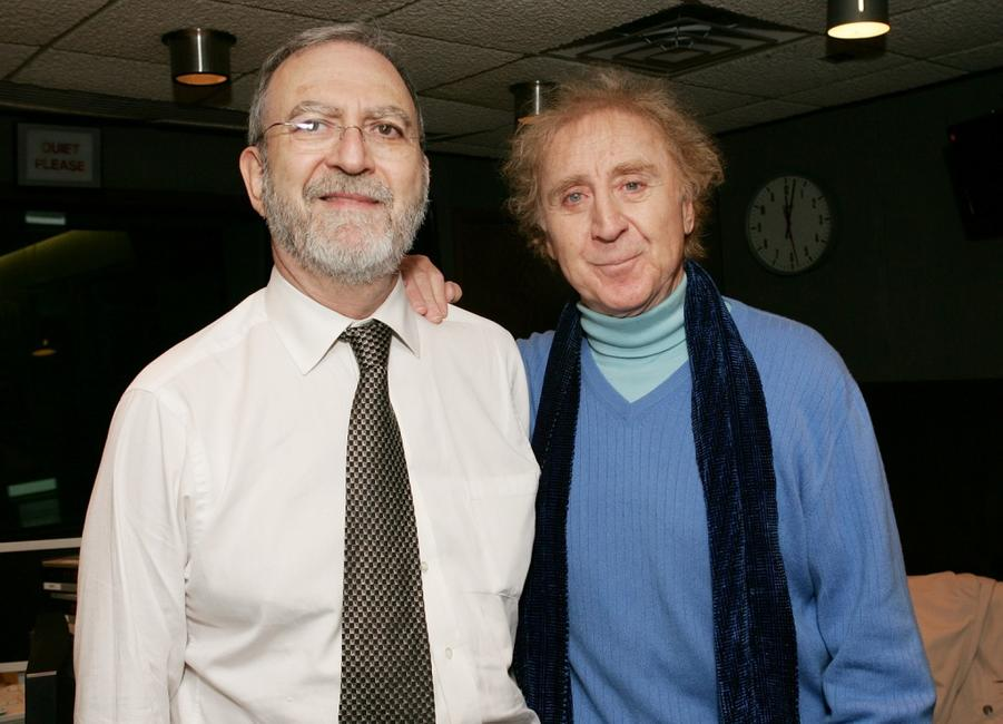 Leonard Lopate and Gene Wilder at the broadcast of