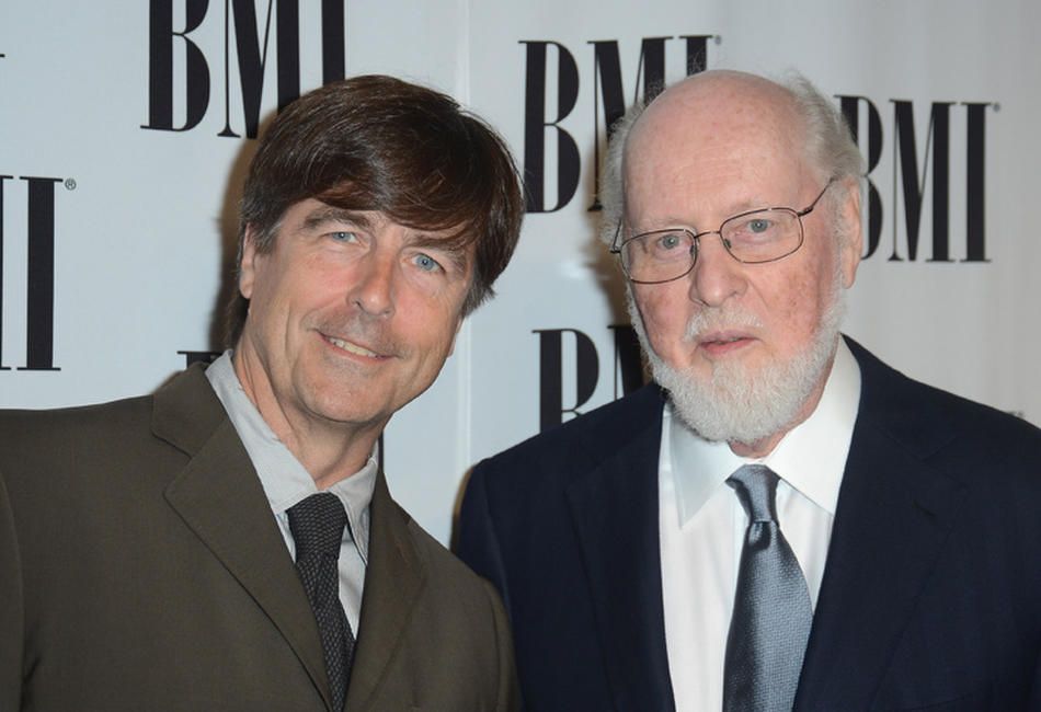 Composer Thomas Newman and John Williams at the 60th Annual BMI Film and Television Awards in California.