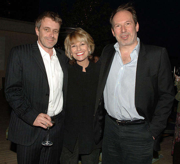Composer Harry Gregson-Williams, Judi Pulver and Hans Zimmer at the cocktail reception during the Crescendo Award.