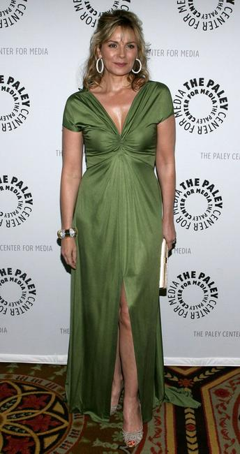 Kim Cattrall at the gala honoring Sumner Redstone presented by The Paley Center For Media at the Waldorf-Astoria Hotel.