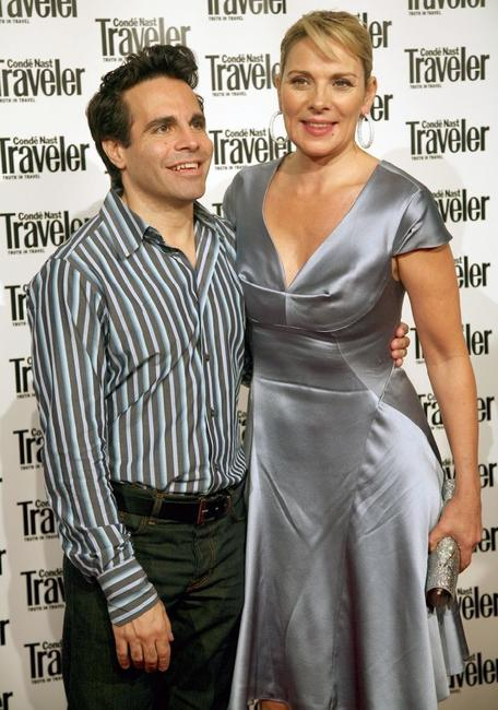 Kim Cattrall and Mario Cantone at the Conde Nast Traveler Readers' Choice Awards.