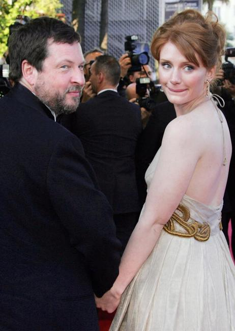 Lars von Trier and Bryce Dallas Howard at the Cannes International Film Festival.