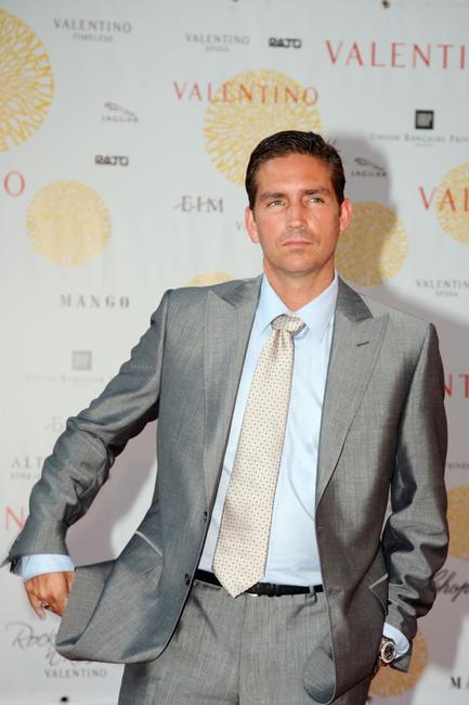 James Caviezel at the Ara Pacis for Valentino's Exhibition opening.