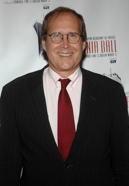 Chevy Chase at the Britannia Ball at the Brooklyn Cruise Terminal.