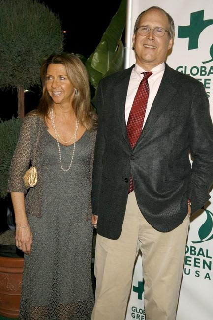 Chevy Chase and his wife Jayni Luke at the Global Green USA 3rd annual pre-Oscar party held at the Avalon Hollywood.