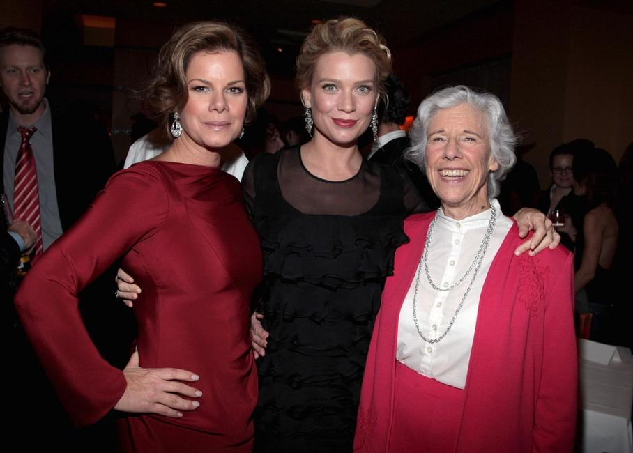 Marcia Gay Harden, Laurie Holden and Frances Sternhagen at the after party of the premiere of