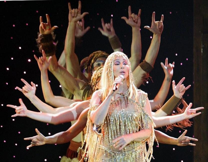 Cher performs at the first concert of her Germany tour.