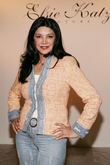 Shohreh Aghdashloo at the Elsie Katz Couture Fall 2006 show during the Mercedes Benz Fashion Week.