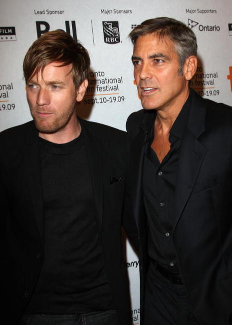 Ewan McGregor and George Clooney at the Canada premiere of